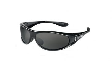 77254c141a55 Bolle Snakes Spiral Sunglasses, Shiny Black Frame, Polarized TNS Lens 10425