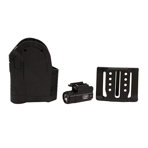Uncle Mike's Spyros Holster System W/ Ambidextrous Hip Holster & 150 Lumen  Light Black 99001LBA